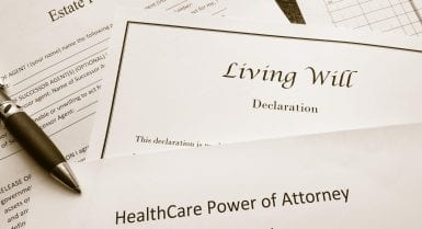difference between a living will and last will and testament law