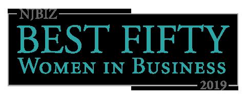 Top Fifty Women in Business award logo